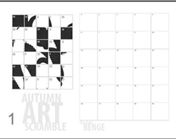 Autumn Silhouettes - Simple Mystery Grid Drawing Worksheets