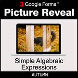 Autumn: Simple Algebraic Expressions - Google Forms Math |