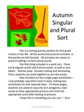 Autumn Singular and Plural Sort