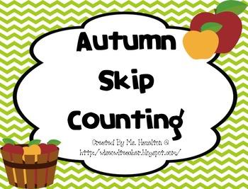 Autumn Skip Counting Bonanza Math Centers and Printables!