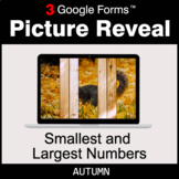 Autumn: Smallest and Largest Numbers - Google Forms Math |
