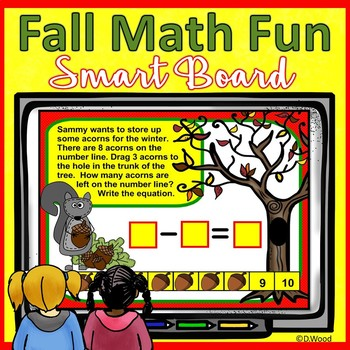 Smart Board Math Fall Fun: Counting, Addition, Subtraction