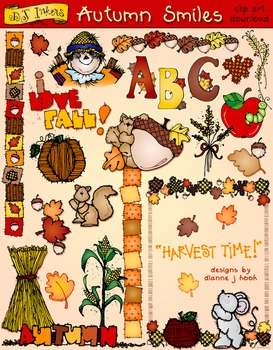 Autumn Smiles Clip Art Download