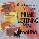Autumn Songs Music Listening