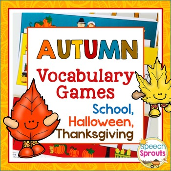 Autumn Vocabulary Games: Back to School, Halloween & Thanksgiving