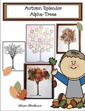 """Autumn Splendor"" Alphabet Tree Crafts"