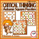 AUTUMN: Autumn Activities, Fall Math Center, Fall Critical Thinking