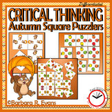CRITICAL THINKING PUZZLES Autumn Activity Brain Teasers Differentiation GATE