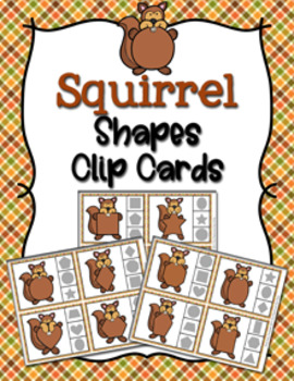 Autumn Squirrel Shapes Clip Cards