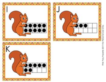 Autumn Squirrel Ten Frames Count the Room