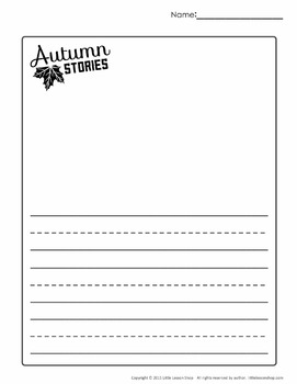 Autumn Stories- Creative Writing Literacy Worksheets and Writing Prompts