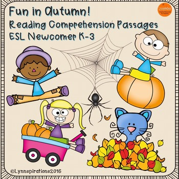 ESL Newcomer: Fun in Autumn Reading Comprehension Passages