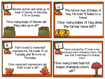 Autumn Story Problems Addition & Subtraction