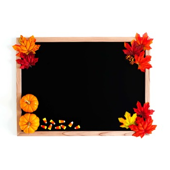 Autumn Styled Blackboard Photos