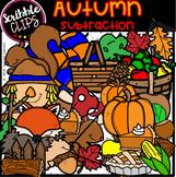Autumn Subtraction Clipart  (scribble clips)
