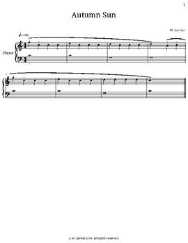 Autumn Sun - Beginner Keyboard Piece