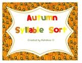 Autumn Syllable Sort