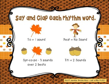 Autumn Syncopation - rhythm activity to prepare present and practice syncopa