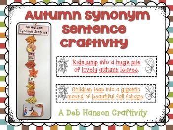 Synonym Sentence Fall Craftivity