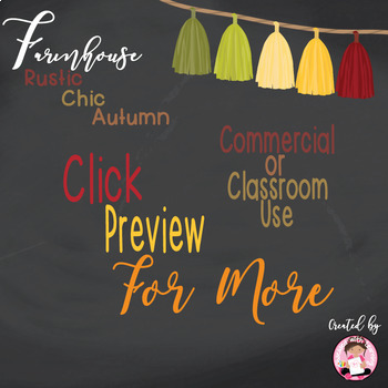 Autumn Tassel and Twine Clipart