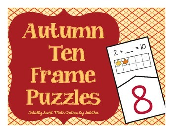 Autumn Ten Frame Self-Checking Puzzles