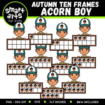 Autumn Ten Frames Clip Art