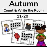 Autumn Ten Frames, Fall Count the Room 11-20 Math Activity