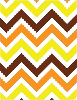 Autumn & Thanksgiving Chevrons 12-Pack