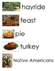 Autumn Thanksgiving Fall Harvest Word Wall