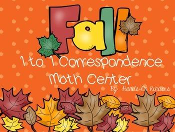 Autumn Theme 1-1 Correspondence Math Center