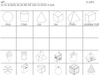 Autumn Theme 3D Shape Math Center