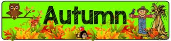 Autumn Theme Classroom Banner