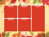 Autumn Theme Desktop Organiser