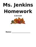 Autumn Theme Homework