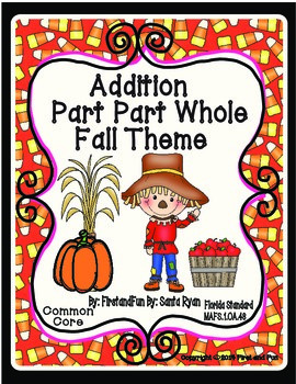 Autumn Theme Part Part Whole Addition Mat and Worksheets G