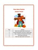Autumn Theme Place Value Practice Worksheets Grade 3