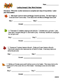 Autumn  Themed 2 Step Word Problems for Second Grade Ready Math Skill