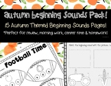 Thanksgiving and Fall Themed Beginning Sounds and Letters Pack