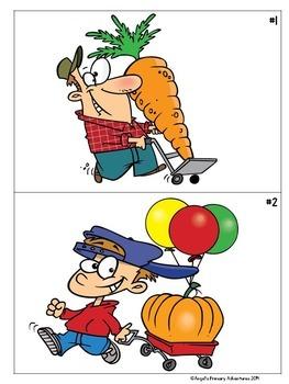Autumn Themed Cartoon Writing Prompts