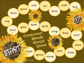 Autumn Themed Consonant Blend Board Game