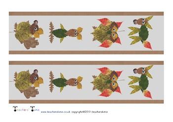 Autumn Themed Display Border