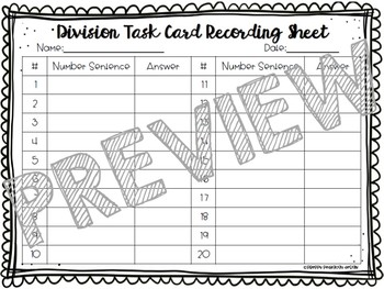 Autumn-Themed Division Task Cards