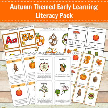 Montessori Inspired Autumn Themed Early Learning Literacy Pack