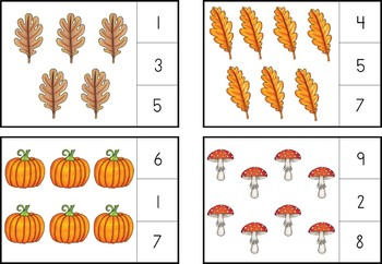 Autumn Themed Early Learning Math Activities Printable Pack