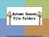 Autumn Themed File Folders (4)