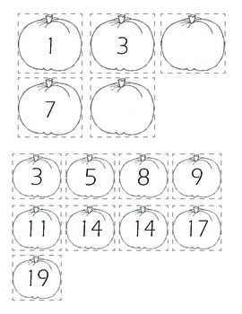 Autumn Themed Finish the- Pattern, Number and Letter Worksheets