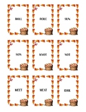 Autumn Themed Homophone Concentration Game - ≤4 letters