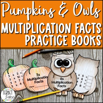 Autumn Themed Multiplication Facts Practice Books and Wall Signs