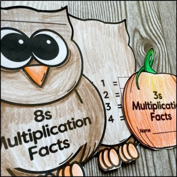 Autumn Themed Multiplication Facts Practice Books