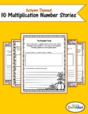 Autumn Themed Multiplication Number Stories